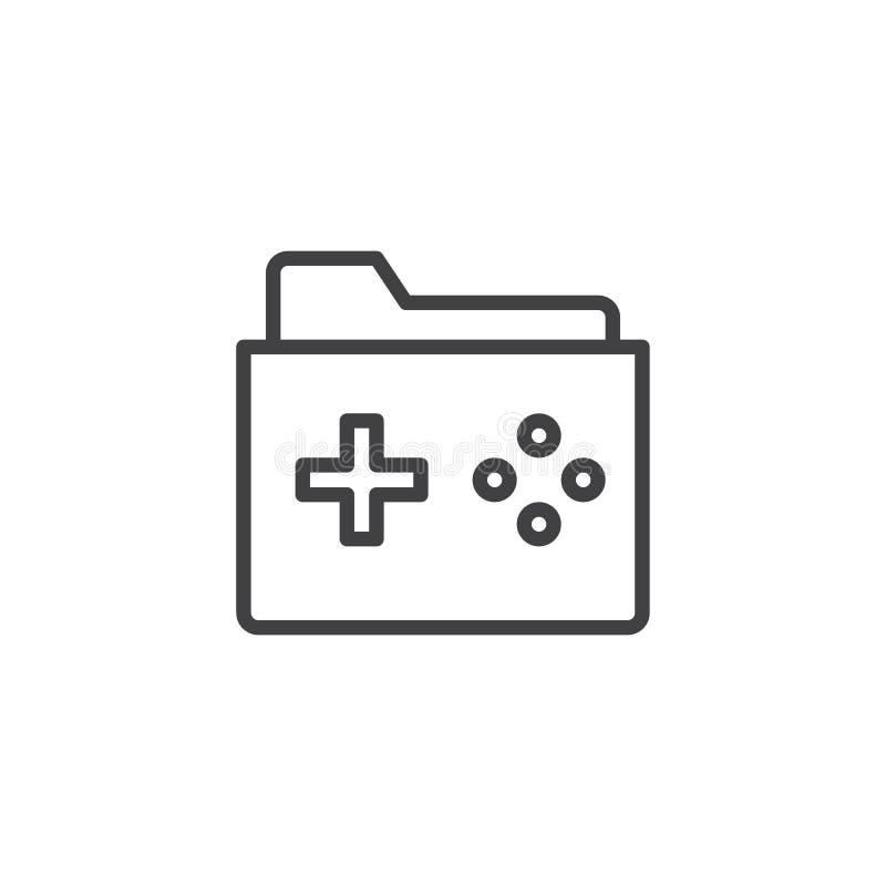 Spielordner-Entwurfsikone vektor abbildung