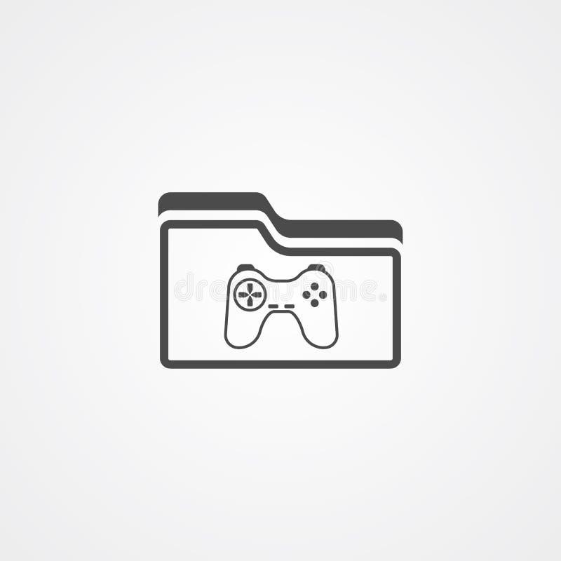 Spielordnervektorikonen-Zeichensymbol lizenzfreie abbildung