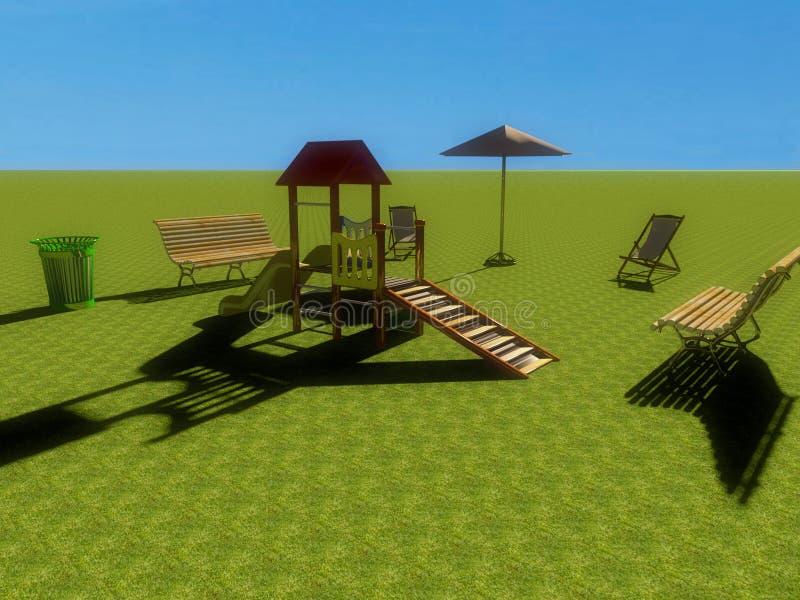 Spielplatz 3d stock abbildung