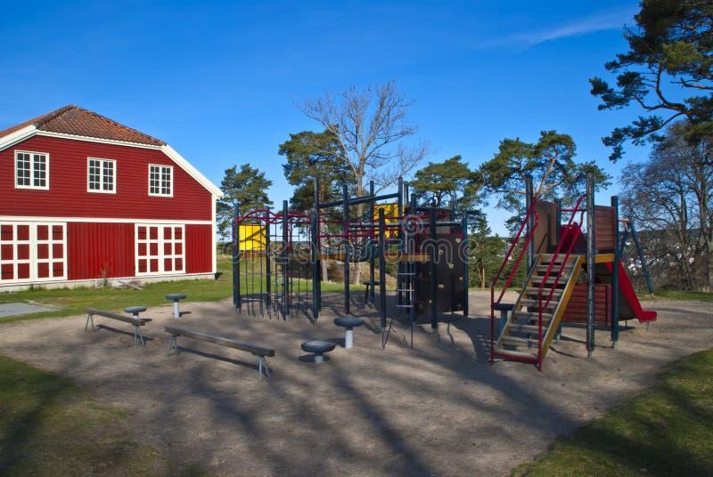 Spielplatz Fredriksten Ein Lizenzfreie Stockbilder