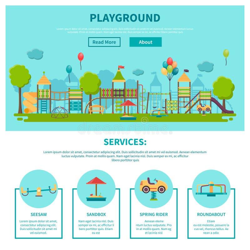 Spielplatz-Illustration im Freien stock abbildung