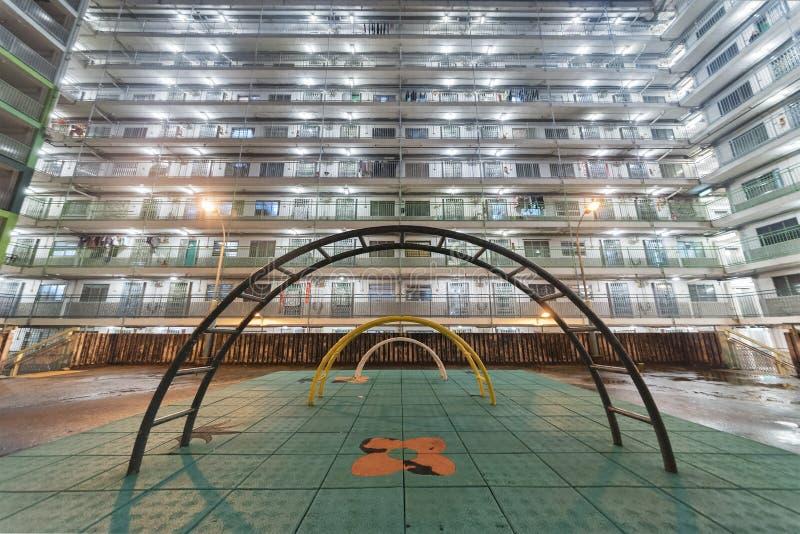 Spielplatz im Wohnviertel in Hong Kong-Stadt lizenzfreies stockbild