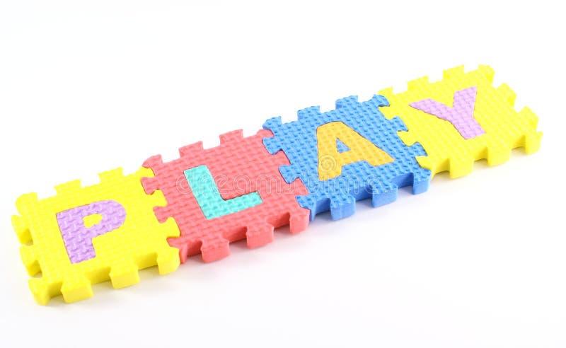 Spielpuzzlespiel lizenzfreie stockfotos