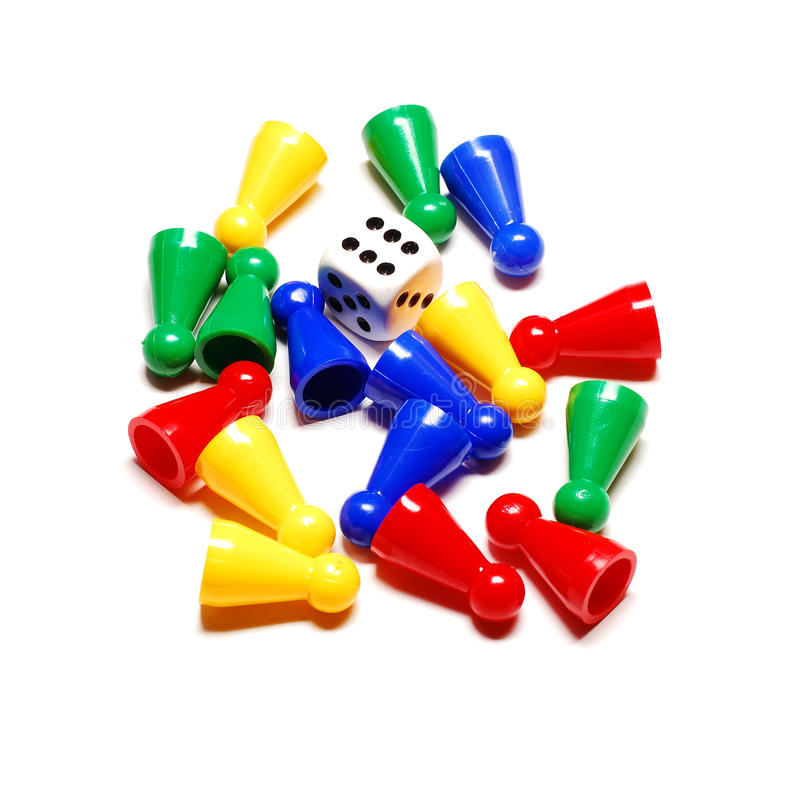 Spielstücke stockbild