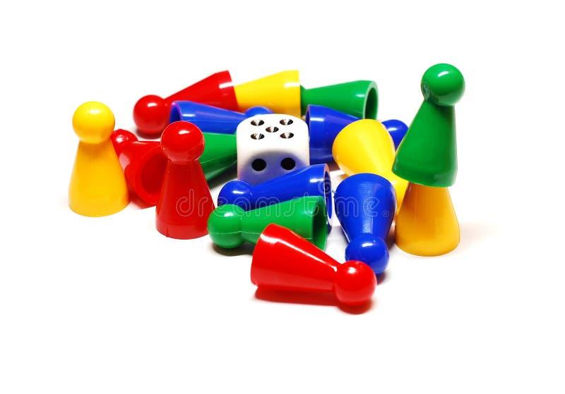 Spielstücke stockbilder