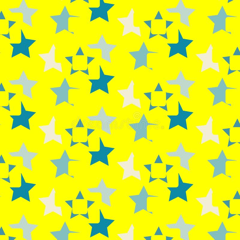Spielt helles Mustergrün des Sommerdruckes einen gelben Hintergrund die Hauptrolle lizenzfreie abbildung