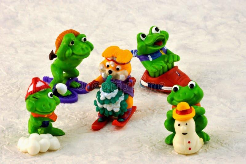 Spielt Kind-` s Winterspaß-Sportspaß lizenzfreies stockbild