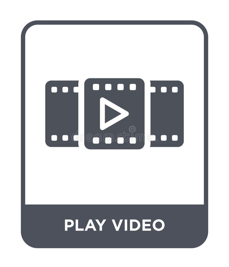 Spielvideoikone in der modischen Entwurfsart Spielvideoikone lokalisiert auf weißem Hintergrund Spielvideovektorikone einfach und stock abbildung