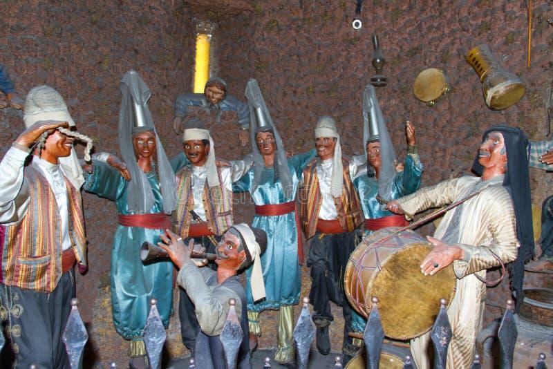 Spielwaren für alte musikalische libanesische Leute stockfotos