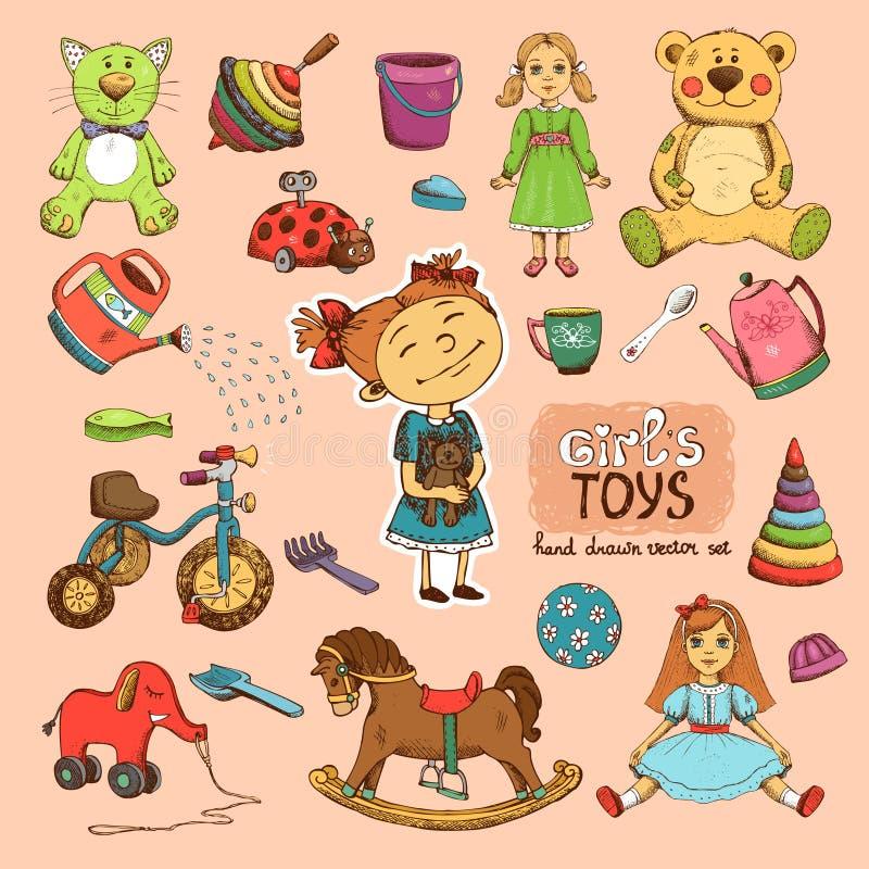 Spielwaren für Mädchen vektor abbildung