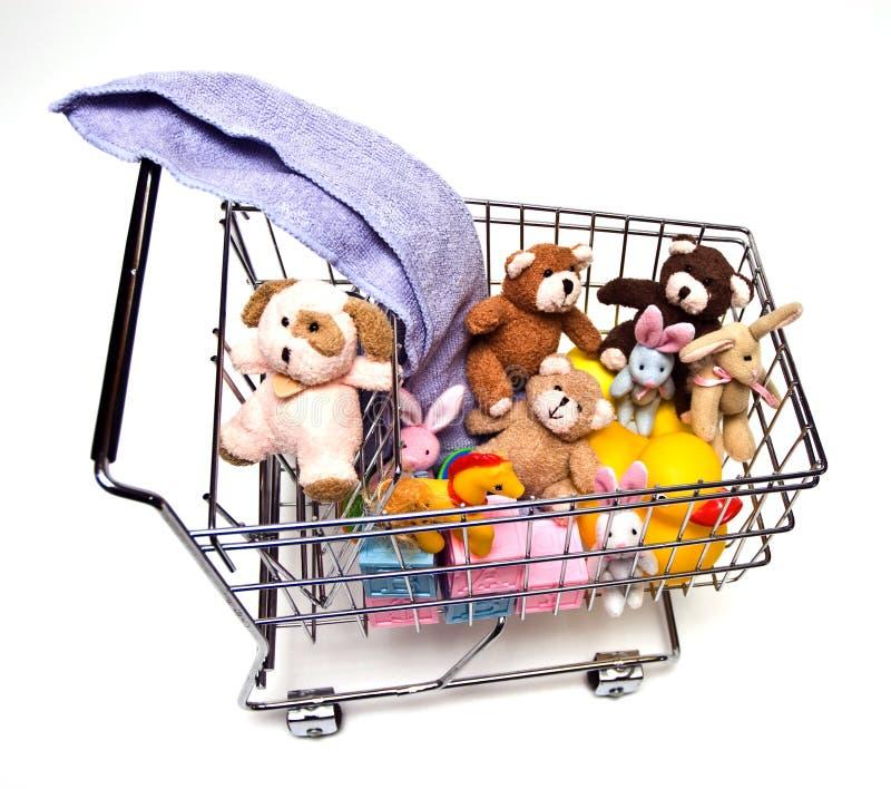 Spielwaren im Wagen stockfoto