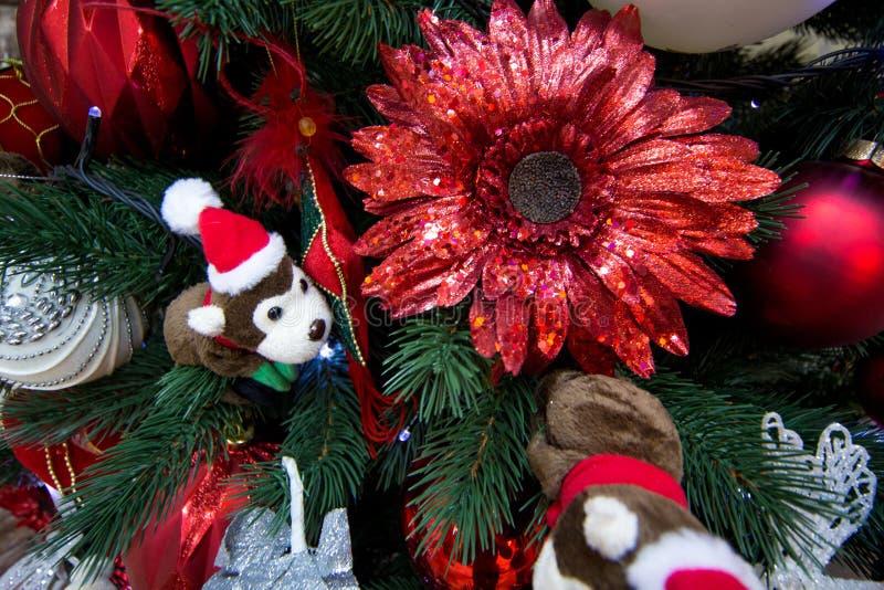 Spielwaren-Weihnachtsbaum stockfoto