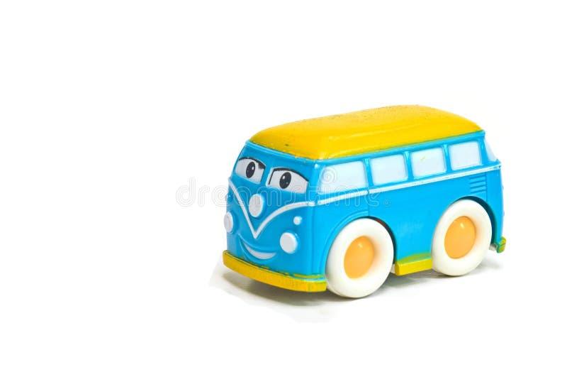Spielzeug Autovan children lokalisiert auf weißem Hintergrund lizenzfreie stockfotografie