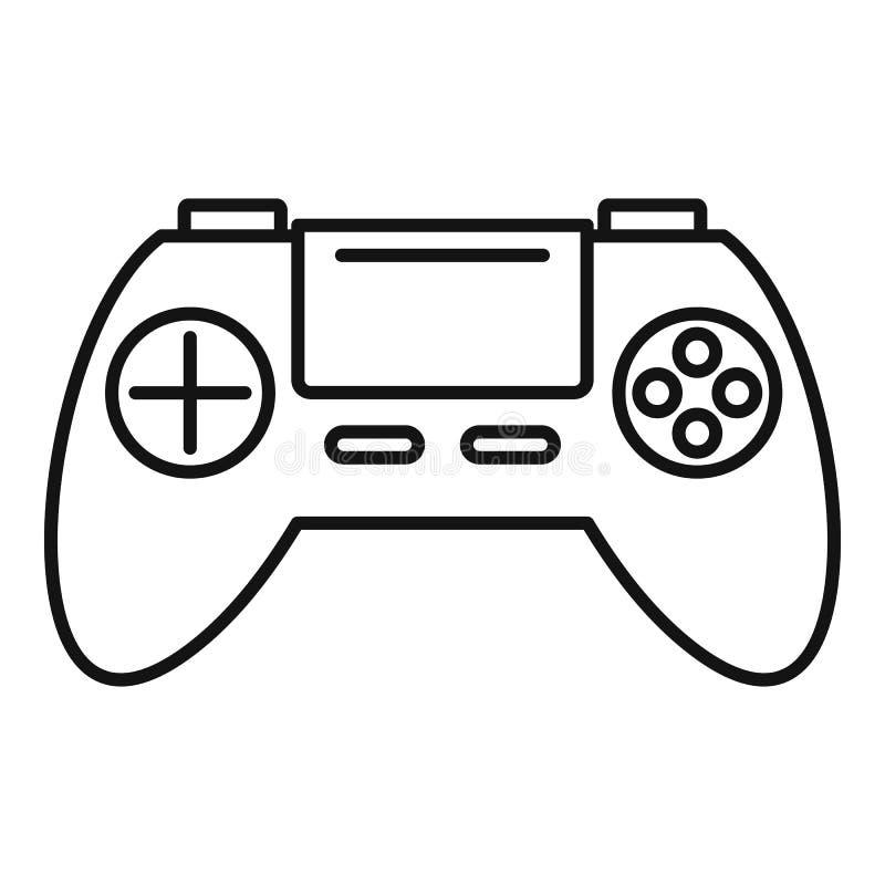 Spielzeug gamepad Ikone, Entwurfsart lizenzfreie abbildung