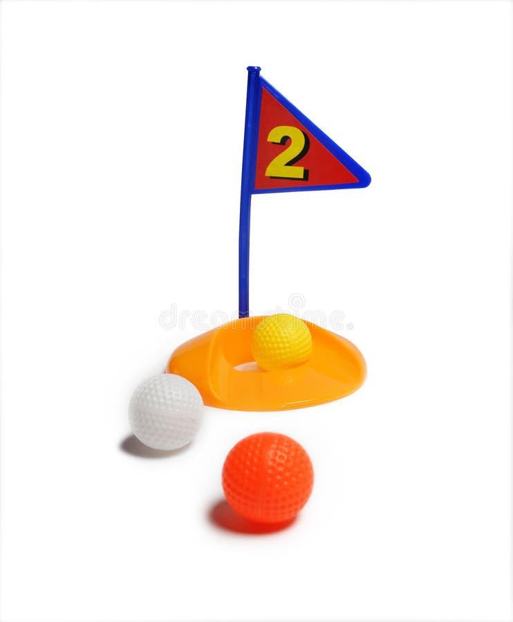 Spielzeug-Golf-Set lizenzfreie stockfotos