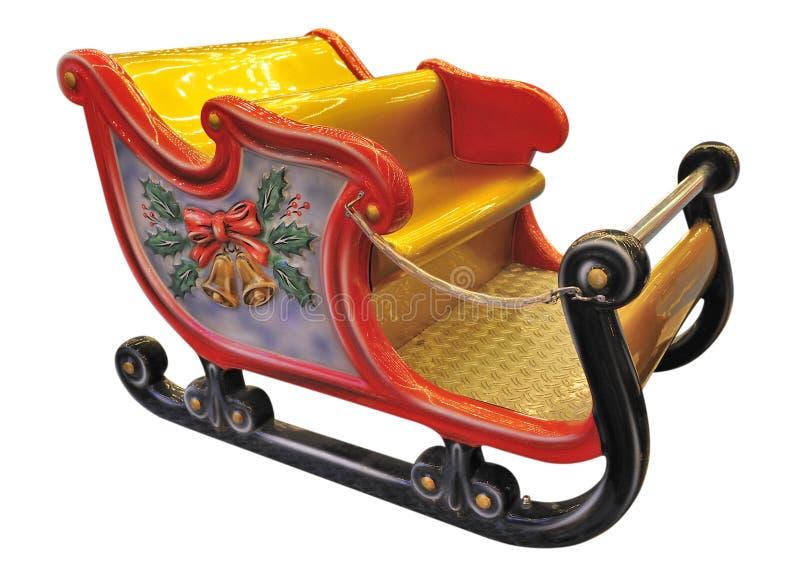 Spielzeug-Pferdeschlitten lizenzfreie stockfotos