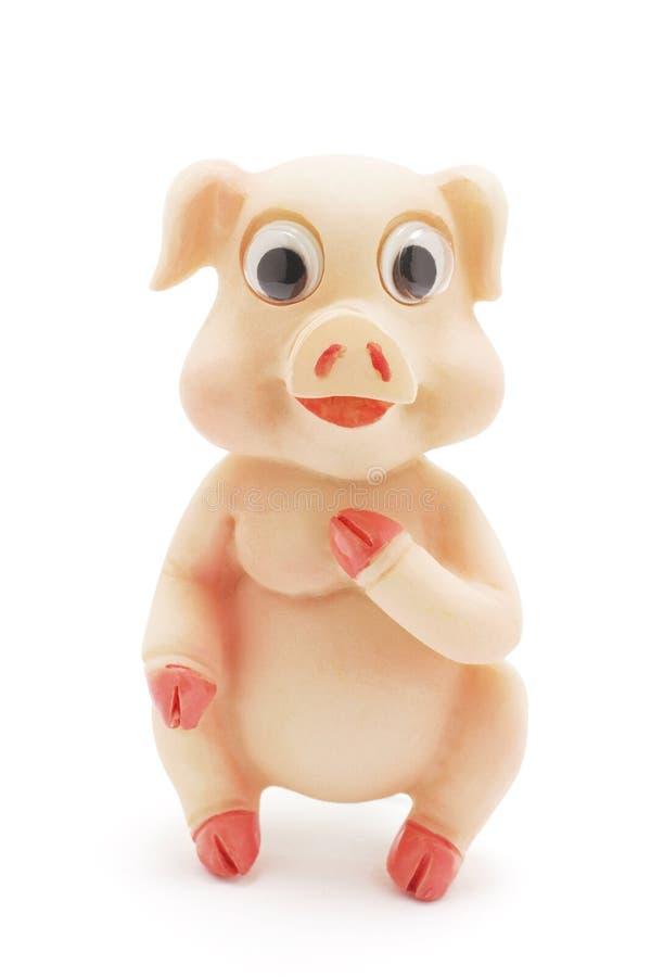 Spielzeug-Schwein lizenzfreie stockfotos