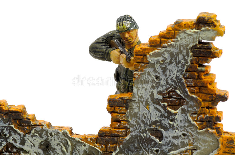 Spielzeug-Soldat Stockbild