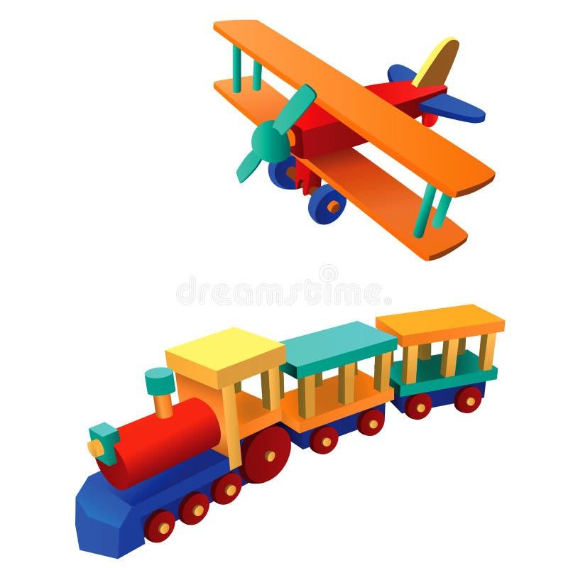 Spielzeugabbildung 3 vektor abbildung