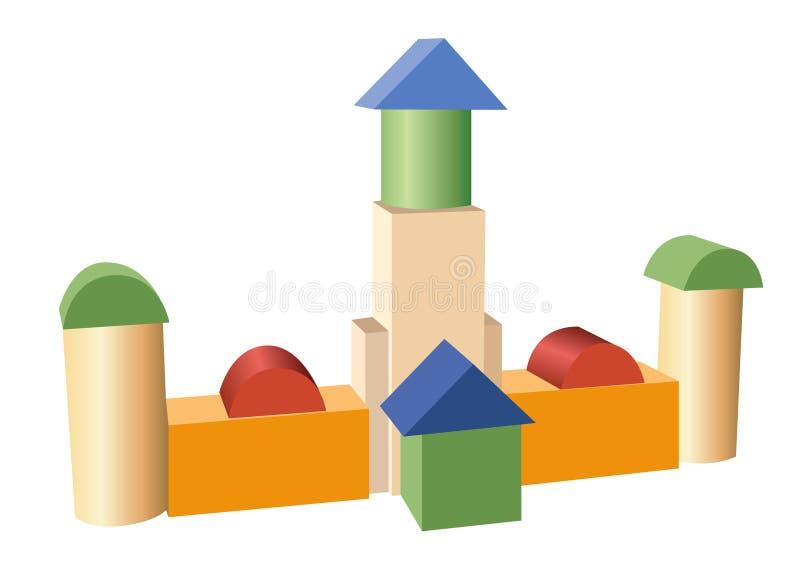 Spielzeugaufbau-Gebäudevektor stock abbildung