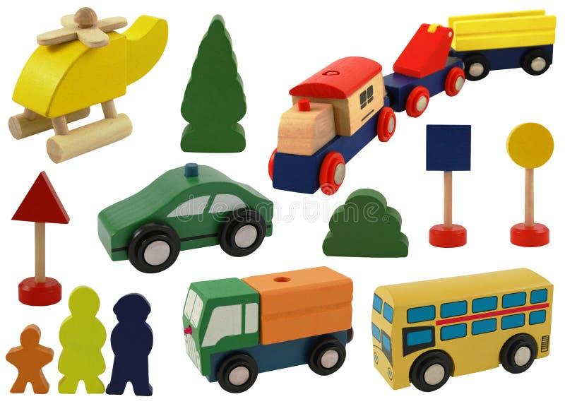 Spielzeugauto, Hubschrauber stockfoto
