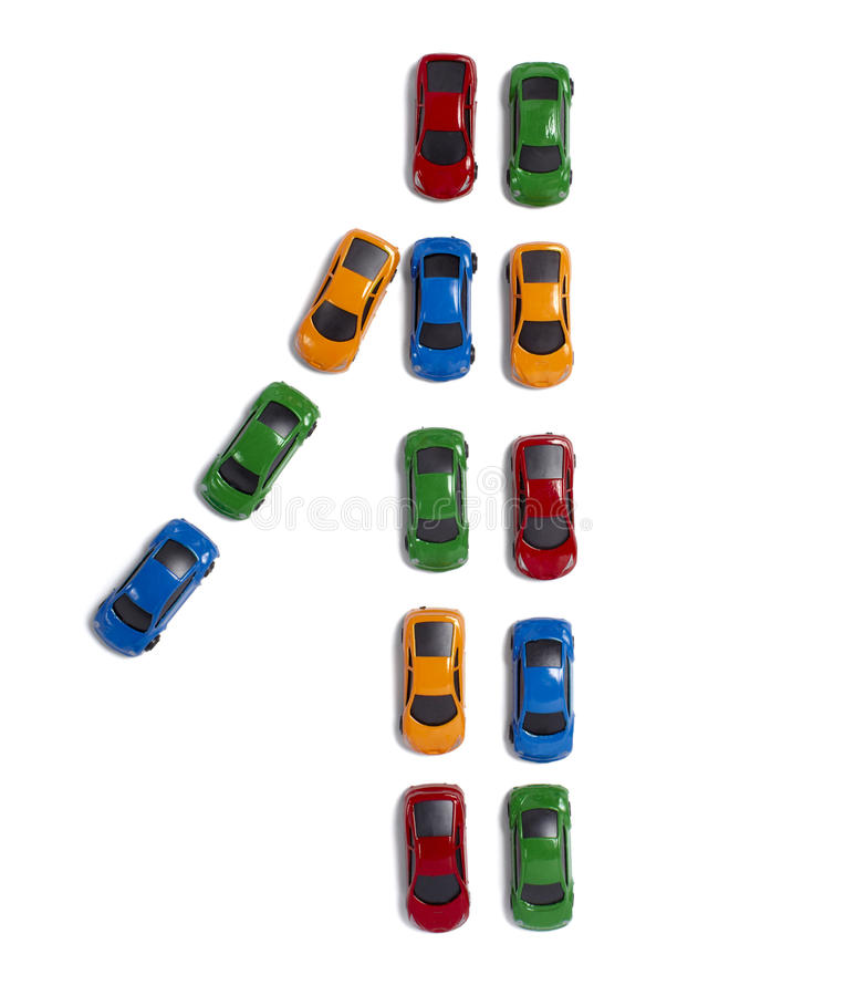 Spielzeugautoverkehrstransport stockfotos