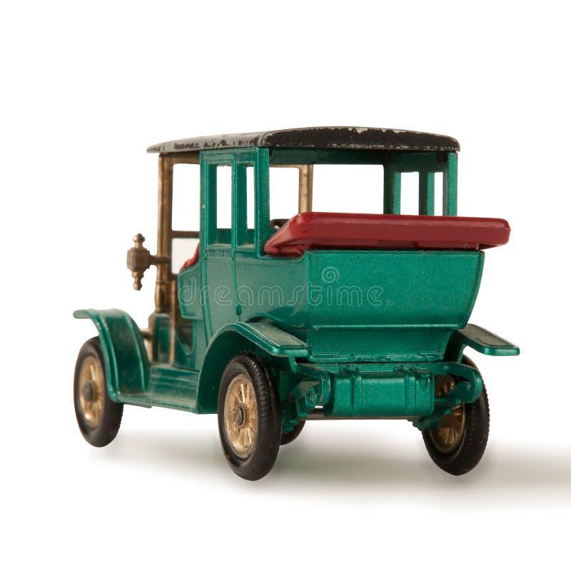 Spielzeugbaumuster von altes Auto getrenntem seltenem stockfotografie