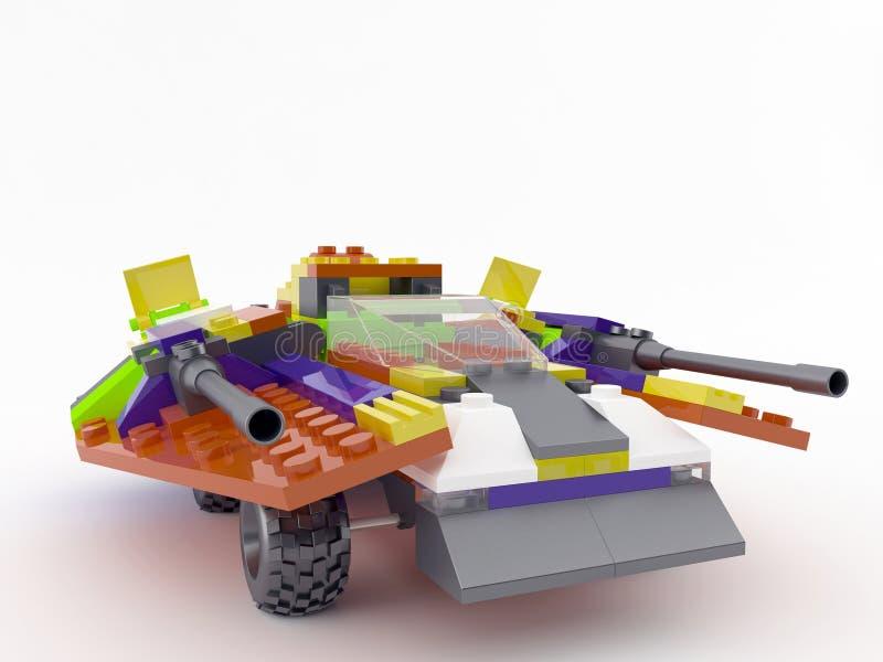 Spielzeugfahrzeug vom Entwerfer lego stock abbildung