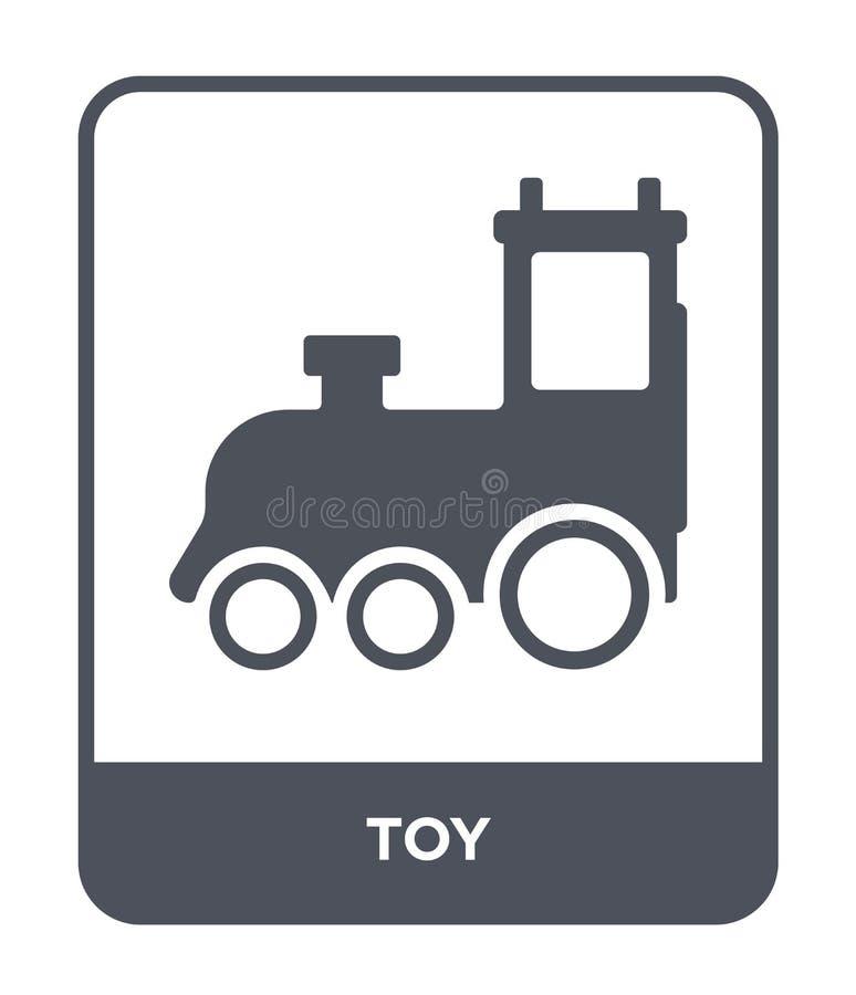 Spielzeugikone in der modischen Entwurfsart Spielzeugikone lokalisiert auf weißem Hintergrund einfaches und modernes flaches Symb vektor abbildung