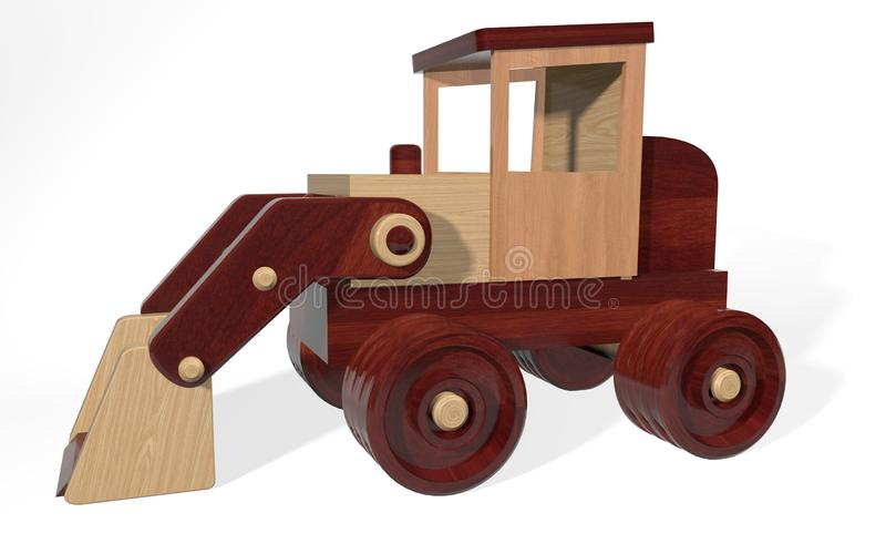 Spielzeuglader der Kinder der Wiedergabe 3d von kleinen Materialien machte lizenzfreie abbildung