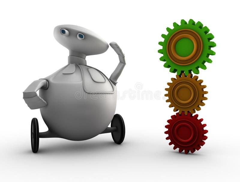 Spielzeugroboter und -gänge lizenzfreie abbildung