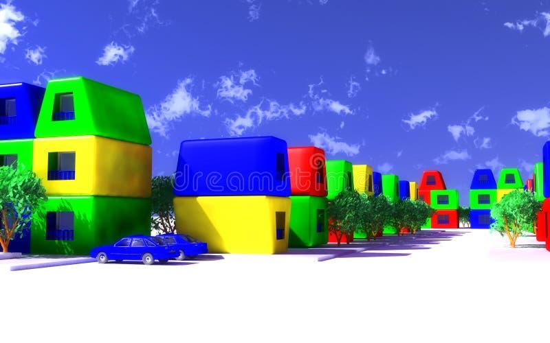 Spielzeugstadt lizenzfreie abbildung