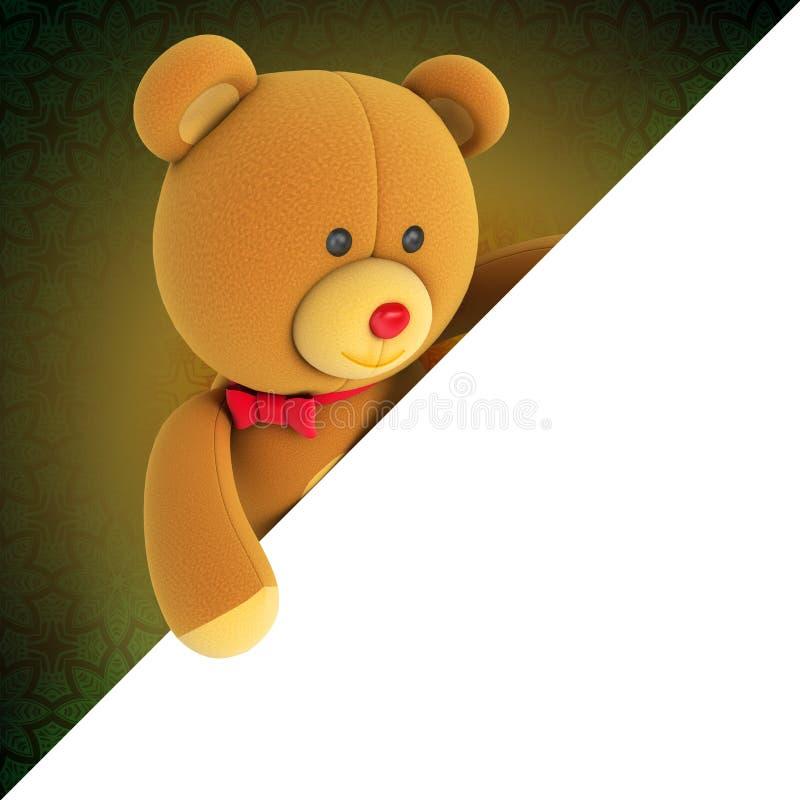 Spielzeugteddybär stock abbildung