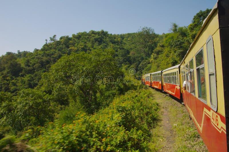 Spielzeugzug Shimla lizenzfreie stockfotografie