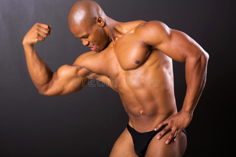 Spier Afrikaanse mens royalty-vrije stock afbeelding