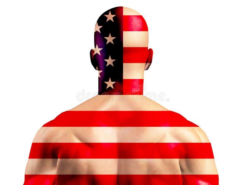 Spier Amerikaanse Mens royalty-vrije illustratie
