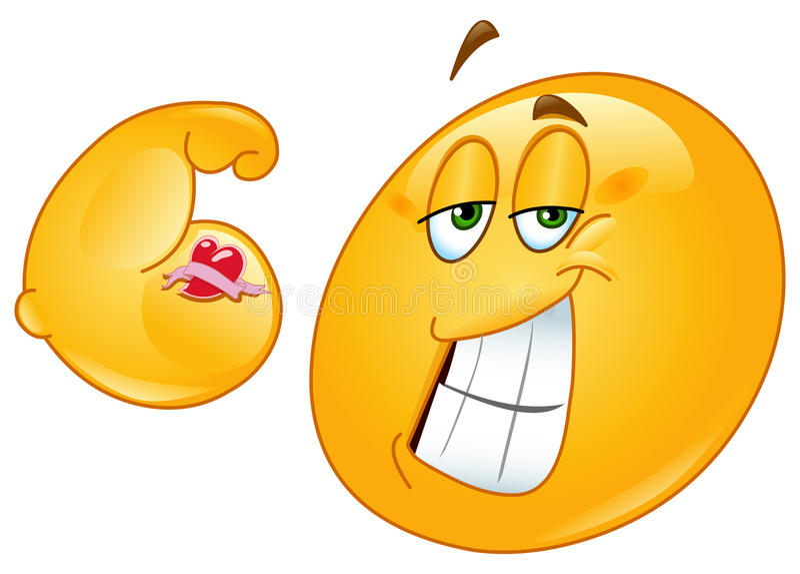 Spier emoticon vector illustratie