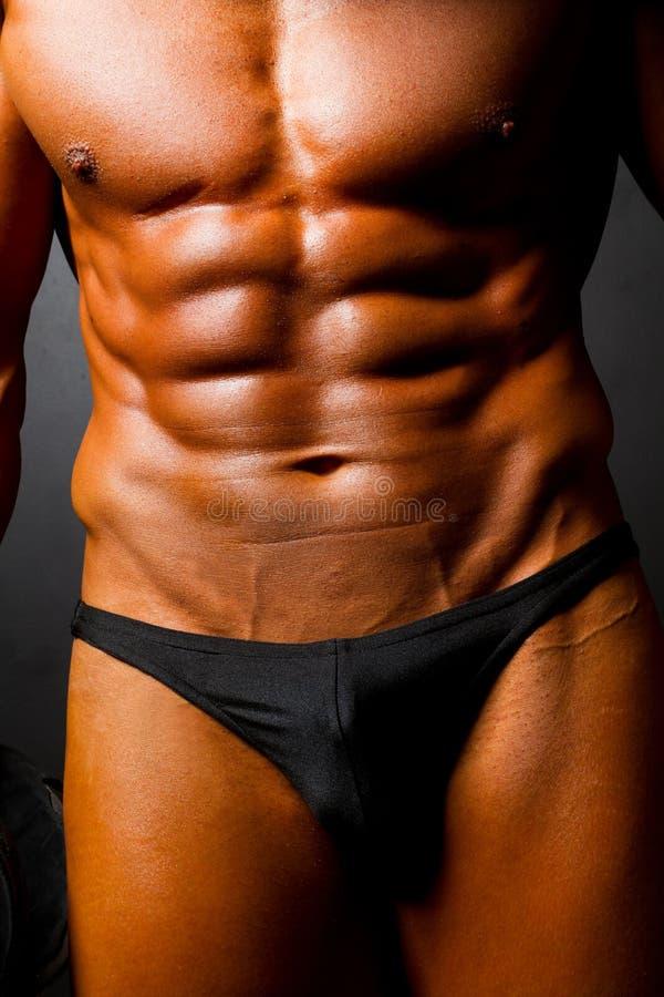 Spier man lichaam stock afbeelding