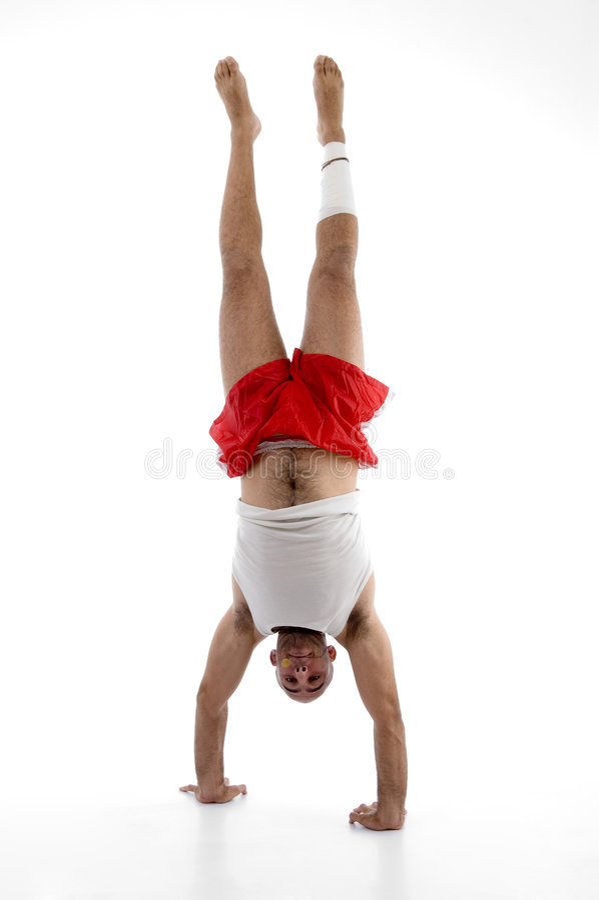 Spier mens die oefening doet stock foto's