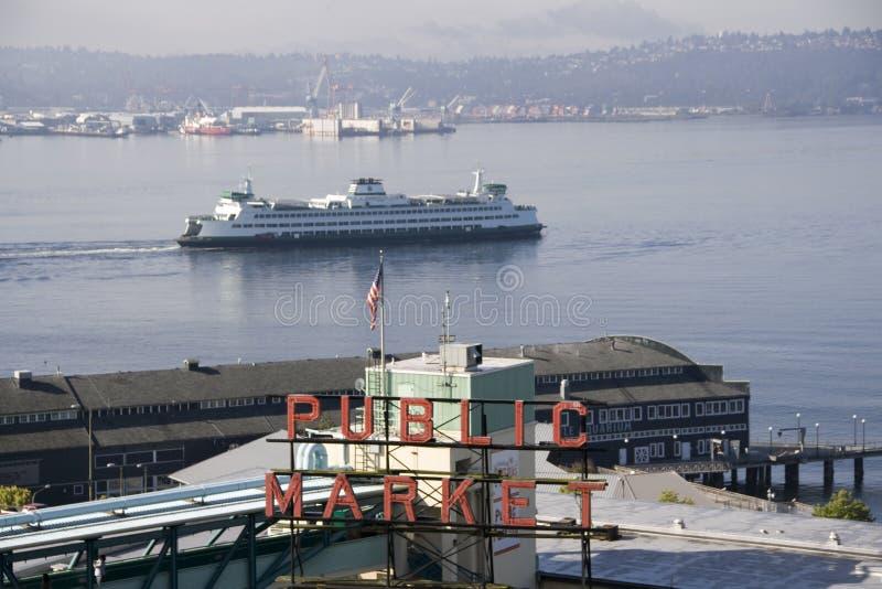 Spiessplatz Seattle des allgemeinen Marktes stockbilder