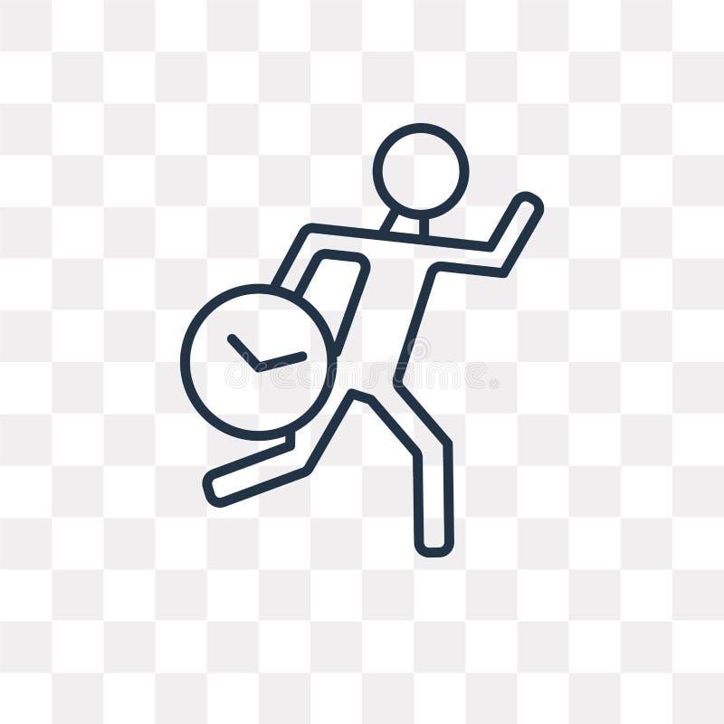 Spieszna wektorowa ikona odizolowywająca na przejrzystym tle, liniowy Hur ilustracja wektor