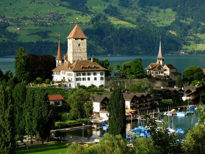 Download Spiez Castle 05, Switzerland Stock Photo - Image of overview, landmark: 6095110