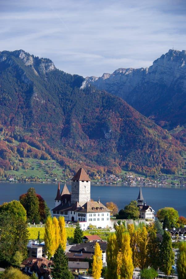 Spiez castle in Switzerland royalty free stock images