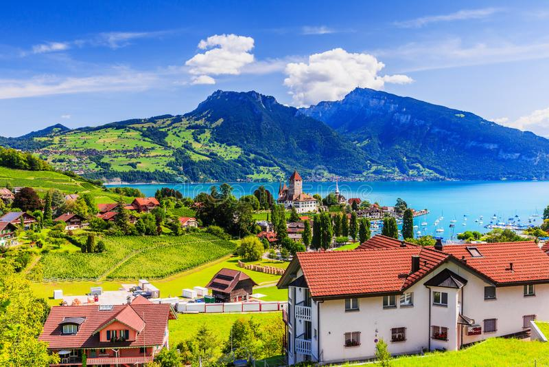 Spiez, Szwajcaria zdjęcie stock