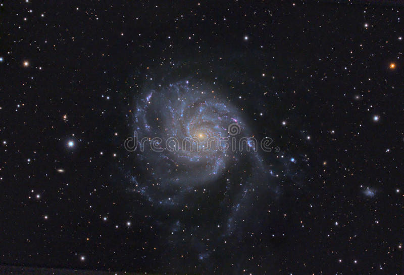 spigal galax m101 royaltyfri foto