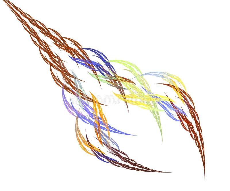 Spighette di astrazione della treccia dei capelli di frattale illustrazione di stock