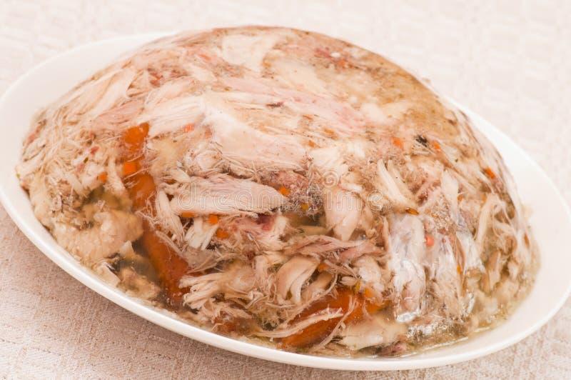 Spigo con la carne del pollo fotografia stock libera da diritti