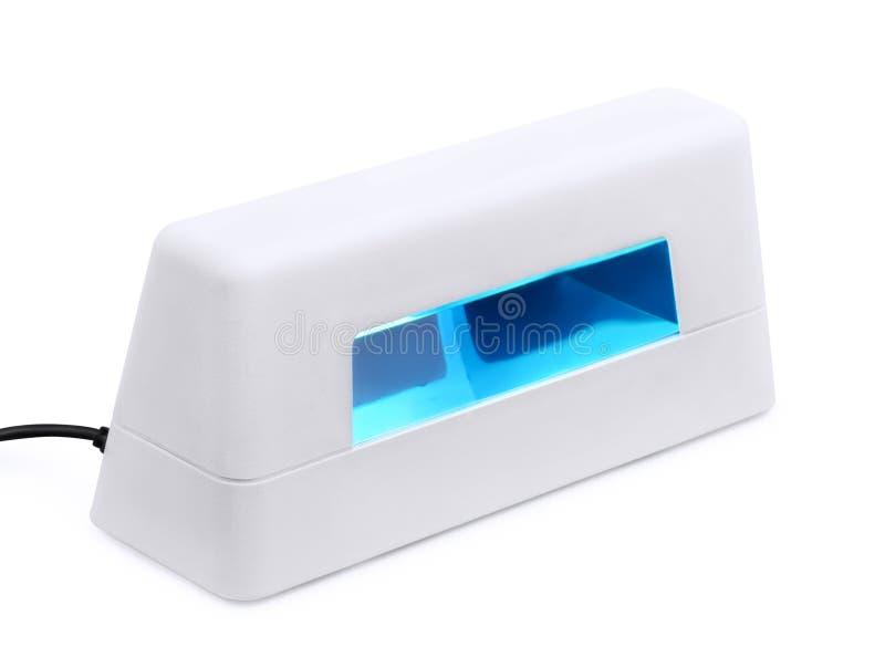 Spijker UVlamp royalty-vrije stock afbeeldingen