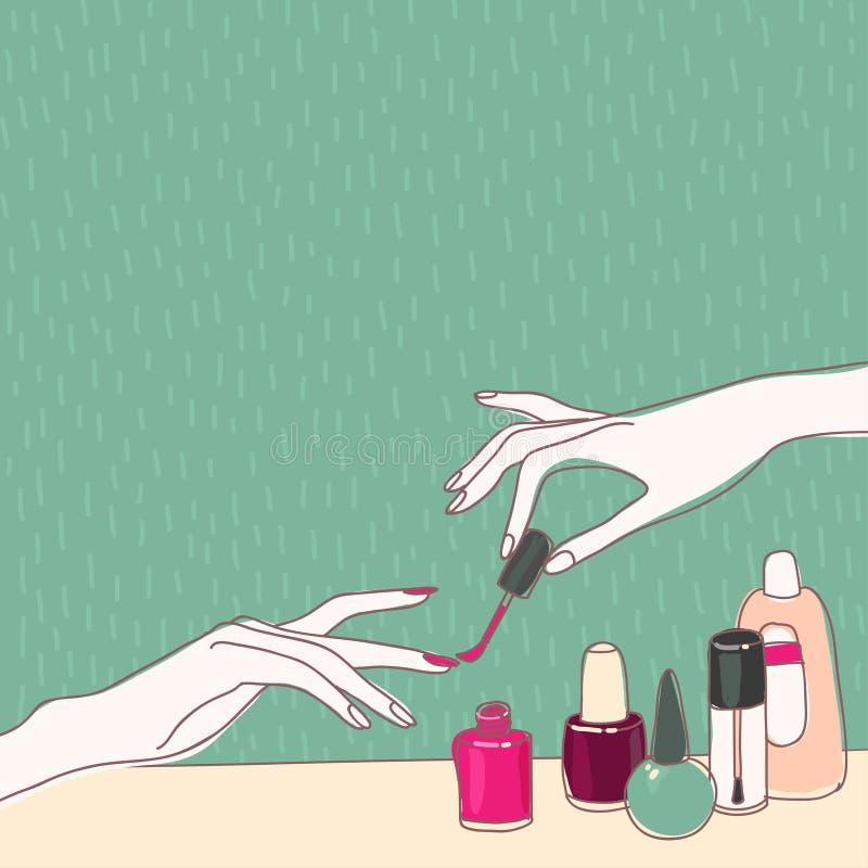 Spijkersalon vector illustratie