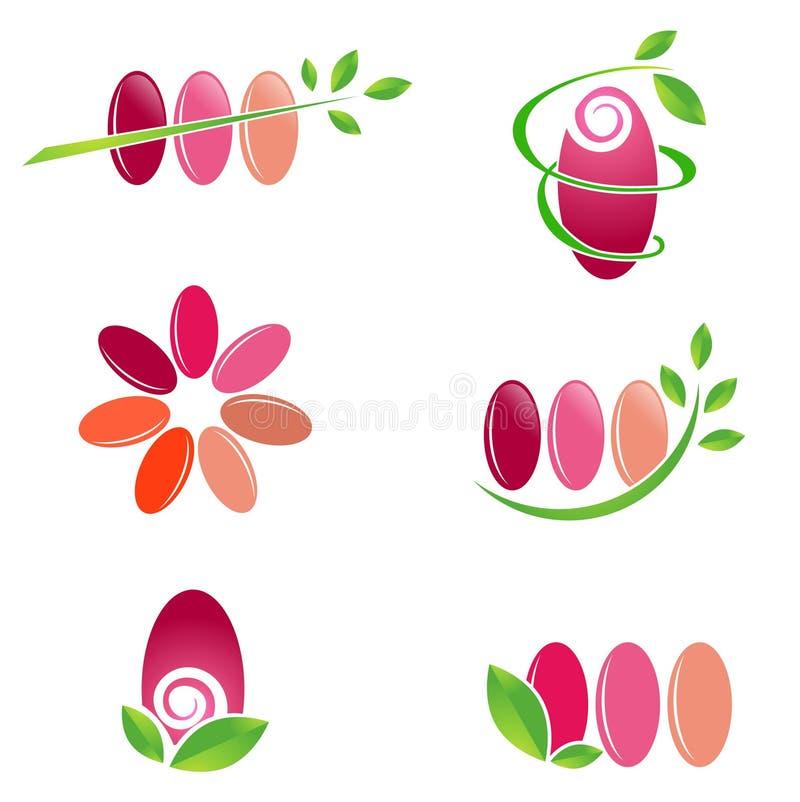 Download Spika Den Spa Designuppsättningen Stock Illustrationer - Illustration av flicka, polermedel: 37348021